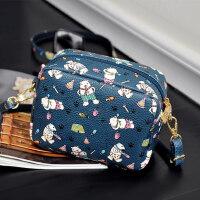 休闲女生小包包时尚韩版单肩包印花卡通斜挎包