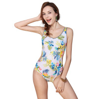 YINGFA英发 女士清新印花连体三角泳衣Y1721 舒适修身泳衣