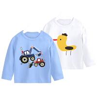 婴儿长袖T恤秋装儿童装宝宝男童打底衫上衣
