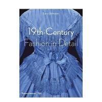 英文原版 19th-Century Fashion in Detail 19世纪的时装时尚细节 复古服装礼服设计 礼服 服装历史 服装设计作品集书籍