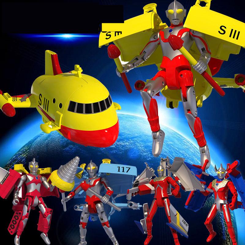 【支持礼品卡】奥特曼合体变形战舰咸蛋超人男孩赛文艾斯泰罗儿童玩具w5n