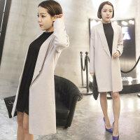 2018春装新款韩版大码女装春秋季中长款显瘦精品亮麻女士风衣外套