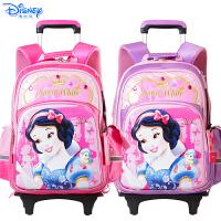 Disney迪士尼白雪公主小学生1-6年级女童卡通拉杆可拆带防雨罩拉杆书包 PB8187