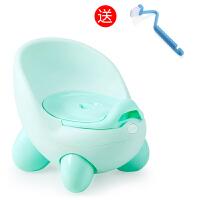 加大号儿童坐便器女宝宝座便器婴儿小孩小马桶 婴幼儿男便盆尿盆 二代 清新绿(送刷子)