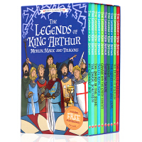 【满300-100】10册盒装亚瑟王的传说正版英文原版小说The Legends of King Arthur Merl