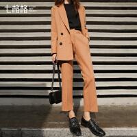 气质时尚套装2017春秋装新款韩版洋气显瘦职业百搭西装两件套女潮