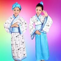 儿童演出服国学服汉服古装弟子规三字经舞蹈表演服男女