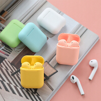 韩国潮流蓝牙耳机马卡龙色可爱真无线学生苹果华为安卓通用磨砂款