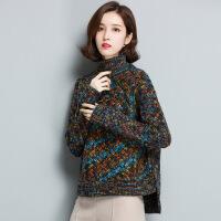 高领厚款花色女式毛衣 厂家现货冬季新品针织毛衣打底衫女