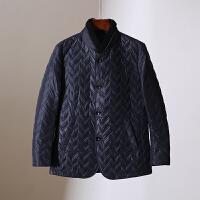 男装 冬装新款85白鸭绒立领羽绒服单排扣韩版纯色百搭外套