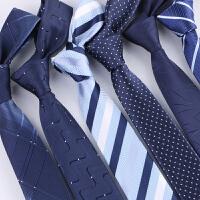 领带男正装商务懒人拉链式易拉得结婚红男士学生窄版黑色6cm韩版