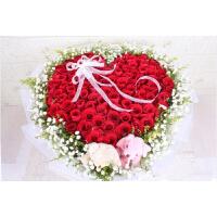 上海鲜花速递同城鲜花店送花11朵红玫瑰红豆欧式花束生日七夕礼物 99朵红玫瑰 节日价