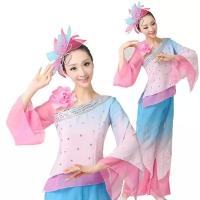 古典舞蹈服江南雨舞台表演服秧歌舞服装伞舞扇子舞演出服