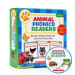 学乐动物语言家长阅读手册 英文原版 Animal Phonics Readers Parent Pack 24册礼盒装
