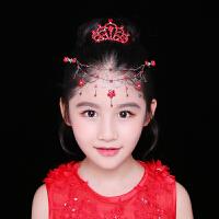 新款女童演出头额饰时尚花童礼服配饰皇冠儿童公主链套装古装发饰  可礼品卡支付