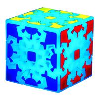 3D立体夜光齿轮魔方异形三阶齿轮发光蓝色炫酷顺滑初学 夜光齿轮