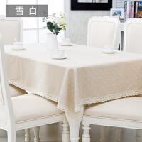 简约现代桌布布艺田园餐桌布格子长方形茶几盖布可定制T