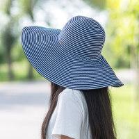 户外运动遮阳帽女防晒大沿帽可折叠海边度假韩版遮脸百搭沙滩凉帽