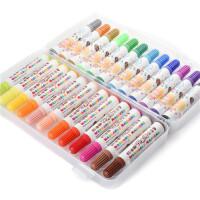 水彩�P 24色36色 可水洗 粗�^盒�b�和��L��彩�P