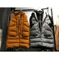 S6马甲女秋冬新款韩版刺绣 中长款羽绒棉连帽棉衣外套0.9