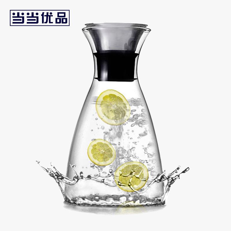 当当优品 耐高温玻璃冷水壶 柠檬杯 凉水瓶 大容量水壶1200毫升 当当自营 高硼硅玻璃 丹麦SOLO壶 冷热适用 手工吹制 1.2L