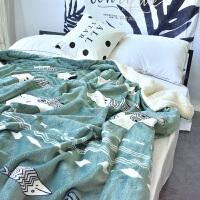 双层法兰绒羊羔绒秋冬季毛毯加厚单双人盖毯珊瑚绒毯子