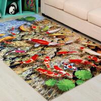 印花3d地垫卡通客厅沙发茶几地毯卧室床边毯进门门厅厨房防滑门垫