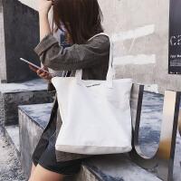 2018新款包包女chic韩版学生帆布包手提大容量文艺百搭单肩包ins