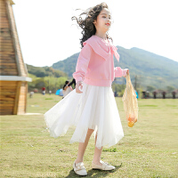 女童公主裙长袖中大童儿童套装裙女孩连衣裙