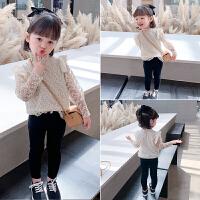 女童蕾丝打底衫2021春秋款韩版洋气秋装宝宝长袖T恤时尚儿童上衣