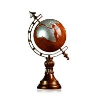 复古地球仪摆件客厅书房家装饰品树脂工艺品摆件家居地球礼物