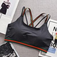 少女士初中学生裹胸内衣文胸无钢圈薄款透气吊带一体运动型背心式 均码(80-130斤)