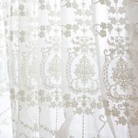 SNS 欧式窗纱白色蕾丝窗帘纱帘布料短窗帘成品卧室客厅飘窗阳台纱