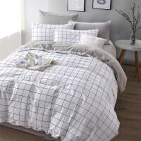 简约四件套棉床单被罩被套大学生宿舍单人三件套床上用品4