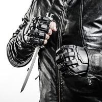 战术手套半指男学生打架格斗防身运动健身训练摩托车户外骑行手套 体重120~150斤选码