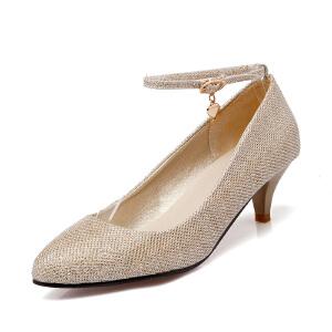 ELEISE美国艾蕾莎新品150-15-16韩版特殊料低跟女士单鞋