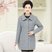 中老年女装秋冬羊毛呢子外套中长款呢大衣40-50妈妈大码加厚风衣