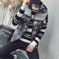 马甲男士秋冬季外套韩版潮流帅气羽绒棉时尚青年保暖背心迷彩坎肩
