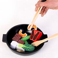 儿童过家家宝宝切切看木制仿真蔬菜火锅炒锅厨房玩具 寿司拼盘