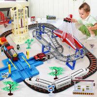 轨道合金多层电动儿童玩具车男孩托马斯小火车套装