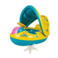 儿童游泳圈 加厚温泉游泳圈 腋下圈0-3-5岁泳圈 宝宝遮阳坐圈
