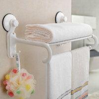 双庆 家居浴室毛巾架吸盘卫生间浴巾架厕所置物架毛巾架 1870