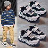 男童鞋子冬加绒潮中大童冬季男童鞋厚底儿童棉鞋