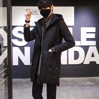 冬季加厚中长款羽绒服男韩版修身羽绒衣男青年休闲潮流外套
