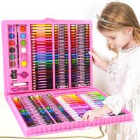 水彩笔套装画笔幼儿园初学者彩色笔手绘72色儿童绘画蜡笔小学生用
