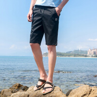 夏季男士薄款运动短裤男韩版棉休闲七分裤五分沙滩裤男装中裤
