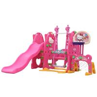凯蒂猫kt儿童室内滑梯helloKitty家用多功能 宝宝乐园组合秋千 健身玩具 +球池组合