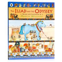 伊利亚特和奥德赛The Iliad and the Odyssey英文原版全彩漫画绘本 希腊神话故事启蒙认知 趣味人文