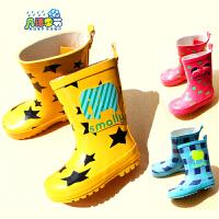 卡通儿童雨鞋雨靴 纯橡胶防滑男女童 宝宝亲子雨水鞋