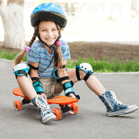 四轮滑板儿童滑板车初学者小鱼板刷街代步男女香蕉板